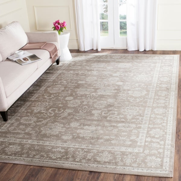 Safavieh Vintage Oriental Brown/ Ivory Distressed Rug - 8' X 11'