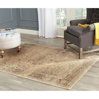 Safavieh Vintage Oriental Warm Beige Distressed Silky Viscose Rug - 8' Square