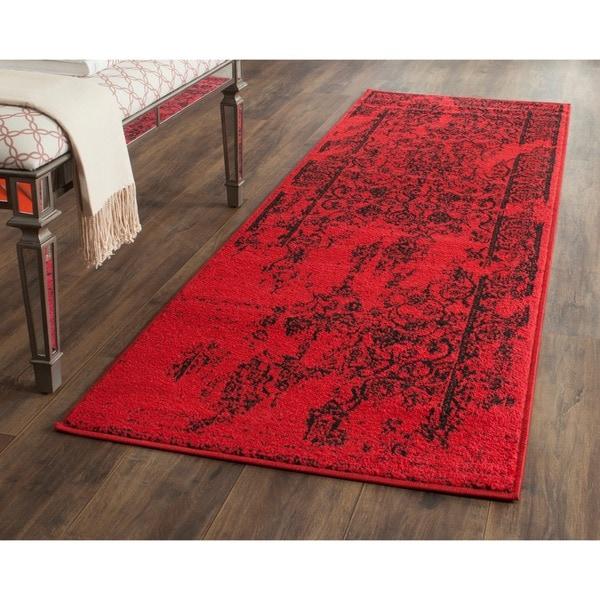 Safavieh Adirondack Vintage Overdyed Red/ Black Rug (2'6 x 6')
