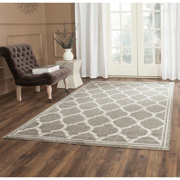 Safavieh Indoor Outdoor Amherst Dark Grey Beige Rug 6
