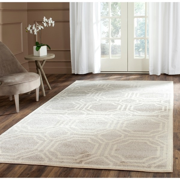 Safavieh Indoor/ Outdoor Amherst Light Grey/ Ivory Rug - 8 ... - photo#28
