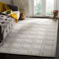 Safavieh Handmade Impressions Grey Wool Rug (7'6 x 9'6)