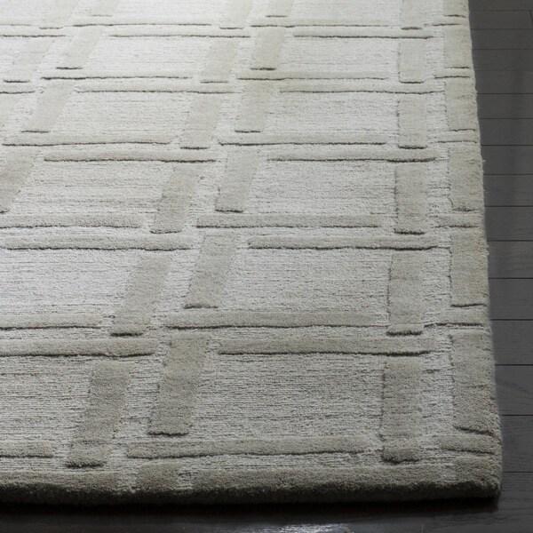 Safavieh Handmade Impressions Grey Wool Rug (7'6 x 9'6) - 7'6 x 9'6