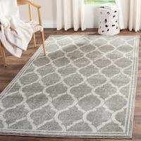 Safavieh Indoor/ Outdoor Amherst Grey/ Light Grey Rug - 6' x 9'
