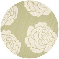 Safavieh Handmade Cambridge Lime/ Ivory Wool Rug - 6' x 6' Round