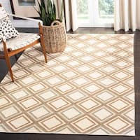 Safavieh Hand-woven Dhurries Ivory/ Blue Wool Rug - 8' x 10'