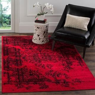 Safavieh Adirondack Vintage Overdyed Red/ Black Rug (4' x 6')