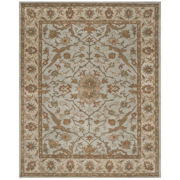Safavieh Handmade Heritage Timeless Traditional Light Blue/ Ivory Wool Rug - 8' x 10'