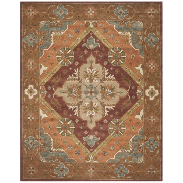 Safavieh Handmade Heritage Timeless Traditional Rust Wool Rug - 8' x 10'