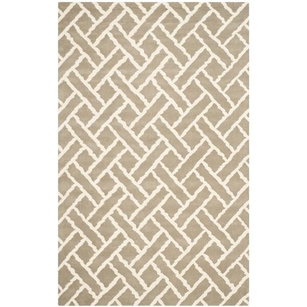 Safavieh Handmade Chatham Beige/ Ivory Wool Rug - 8' x 10'