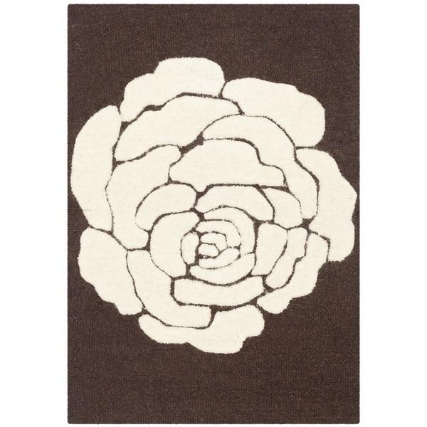 Safavieh Handmade Cambridge Brown/ Ivory Wool Rug - 3' x 5'