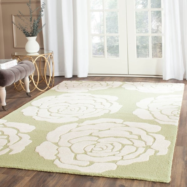 Safavieh Handmade Cambridge Lime/ Ivory Wool Rug - 8' x 10'
