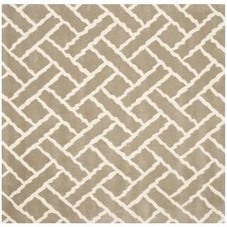 Safavieh Handmade Chatham Beige/ Ivory Wool Rug (5' Square)