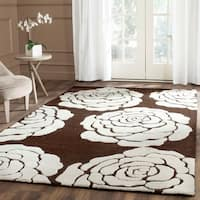 Safavieh Handmade Cambridge Brown/ Ivory Wool Rug - 8' x 10'