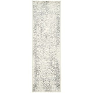 Safavieh Adirondack Dakota Distressed Vintage Boho Oriental Rug (26 x 12 Runner - Ivory/Silver)