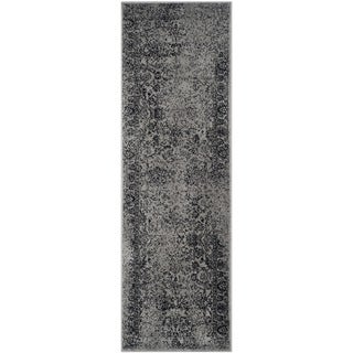Safavieh Adirondack Dakota Distressed Vintage Boho Oriental Rug (26 x 14 Runner - Grey/Black)