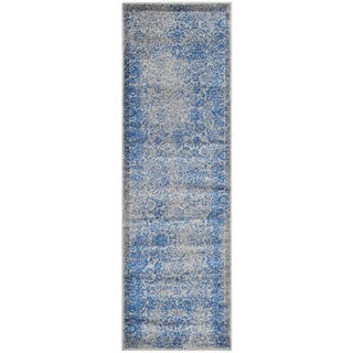 Safavieh Adirondack Dakota Distressed Vintage Boho Oriental Rug (26 x 8 Runner - Grey/Blue)