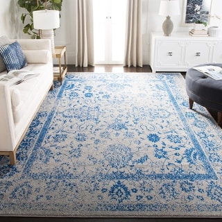 Safavieh Adirondack Dakota Distressed Vintage Boho Oriental Rug (6 x 6 Square - Grey/Blue)