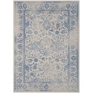 Safavieh Adirondack Dakota Distressed Vintage Boho Oriental Rug (51 x 76 - Ivory/Light Blue)