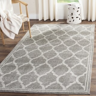 Safavieh Indoor/ Outdoor Amherst Grey/ Light Grey Rug (3' x 5')