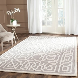 Safavieh Handmade Cambridge Silver/ Ivory Wool Rug (8' x 10')