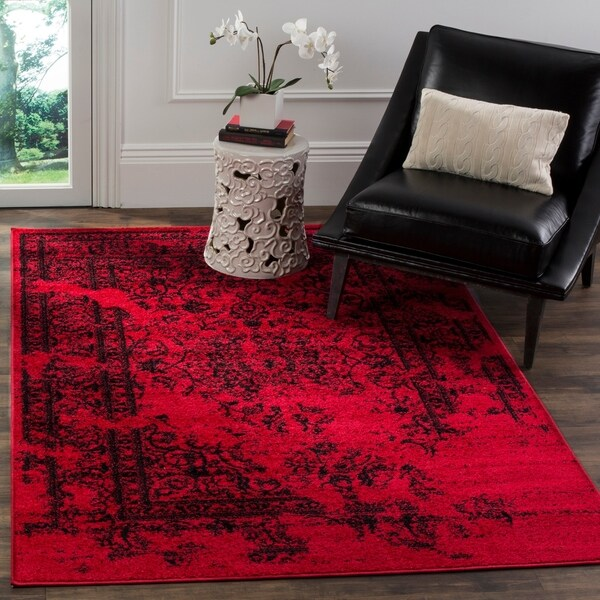 Safavieh Adirondack Vintage Overdyed Red/ Black Rug - 8' x 10'