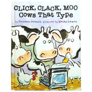 Simon & Schuster Click Clack Moo, Cows That Type by Doreen Cronin