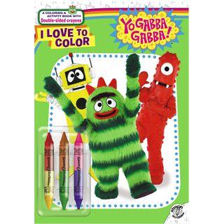 Simon & Schuster Yo Gabba Gabba! I Love To Color Activity Book by Lisa Rao