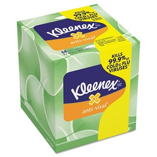 Kleenex Anti-Viral Facial Tissue 3-ply 68-sheet Facial Tissue Boxes (Pack of 27)