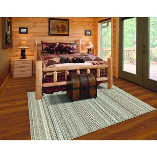 Somette Classic Stripe Earth Rug (4' x 6')