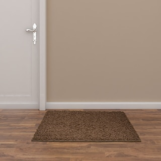 Somette Portside Shag Chocolate Rug (3' x 5')