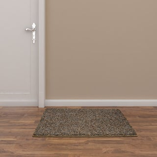 Somette Portside Shag Tan/ Brown/ Blue Rug (3' x 5')