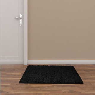 Somette Portside Shag Black Rug (3' x 5')