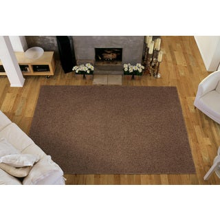 Somette Portside Shag Chocolate Rug (4' x 6')