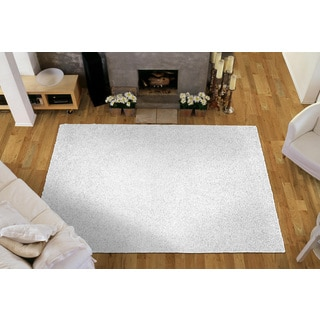 Somette Portside Shag White Rug (4' x 6')