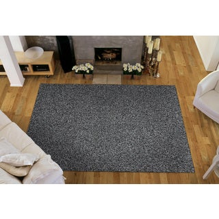 Somette Portside Shag Gray/ Black/ White Rug (4' x 6')