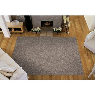 Somette Portside Shag Tan/ Brown/ Blue Rug (4' x 6')