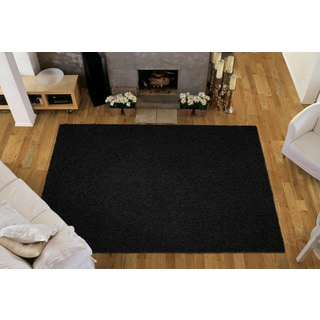 Somette Portside Shag Black Rug (4' x 6')