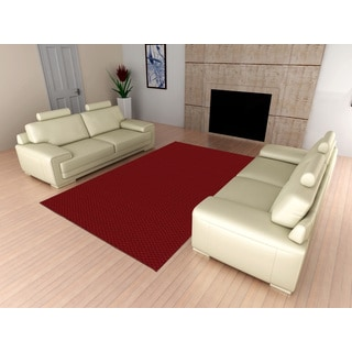 Somette Signature Chili Red Rug (6' x 9')