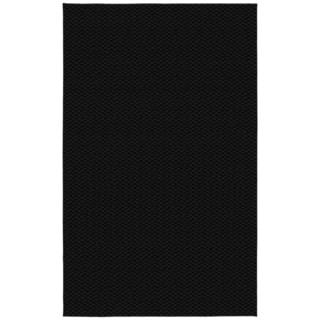 Somette Signature Black Area Rug (6' x 9')
