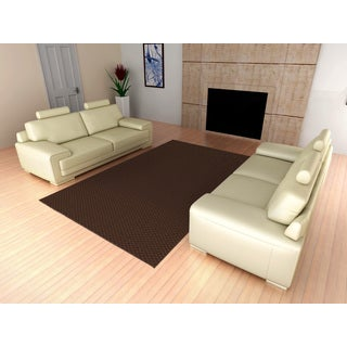 Somette Signature Chocolate Area Rug (9' x 12')