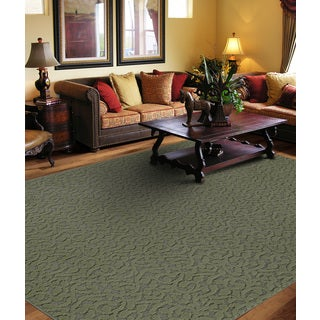 Somette Twisting Vine Sage Area Rug (12' x 12')
