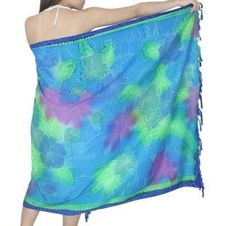 La Leela Bikini Cover up Resort Swimsuit Pool Swimwear Beachwear Cruise Pareo Light Blue