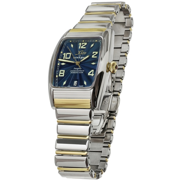 Shop xezo for unite4 good air incognito mens two tone tonneau automatic watch free shipping for Xezo watches