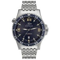 Xezo for Unite4:good Air Commando Men's Limited-Edition Automatic Divers Watch - Silver