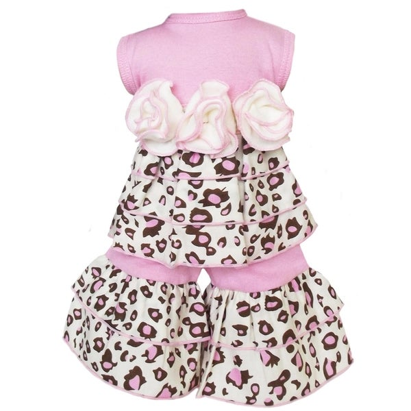 AnnLoren Boutique Pink Leopard Rumba Tunic and Capri 2-piece Doll Outfit