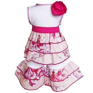AnnLoren Bouquet Rose Rumba Tunic and Capri 2-piece Doll Outfit