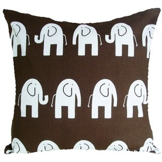 Baby Elephants Chocolate Brown Cushion Cover