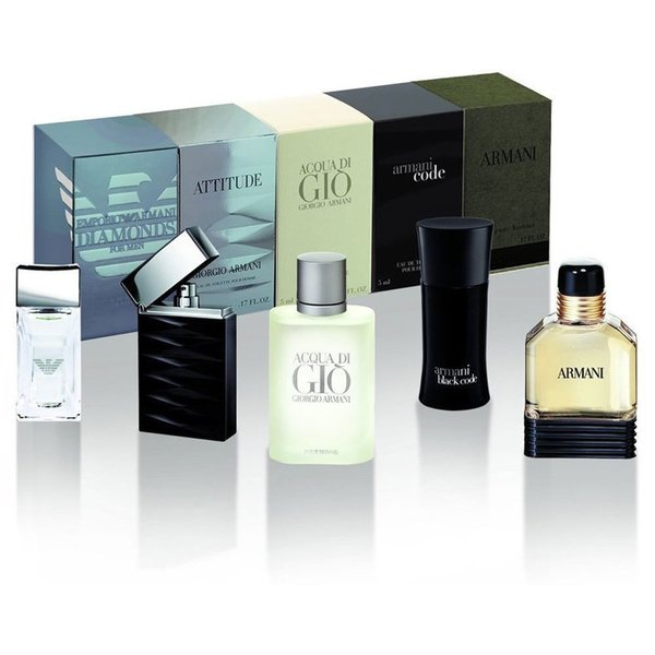 Shop Giorgio Armani Mini Attitude Mens 5 Piece Fragrance Set Free