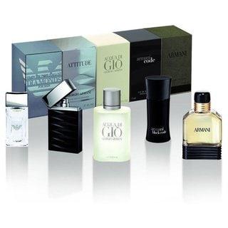 Giorgio Armani Mini Attitude Men's 5-piece Fragrance Set